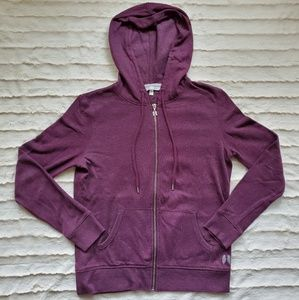 Victoria's Secret Zip Hoodie with Sequin Wing Back
